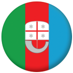 Liguria Flag 58mm Button Badge